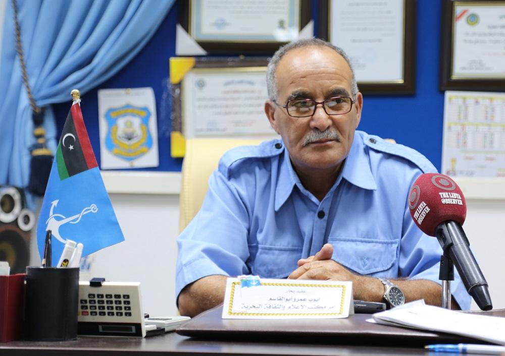 Brigadier Ayoub Qasim speaking to the Libya Observer (the Libya Observer)