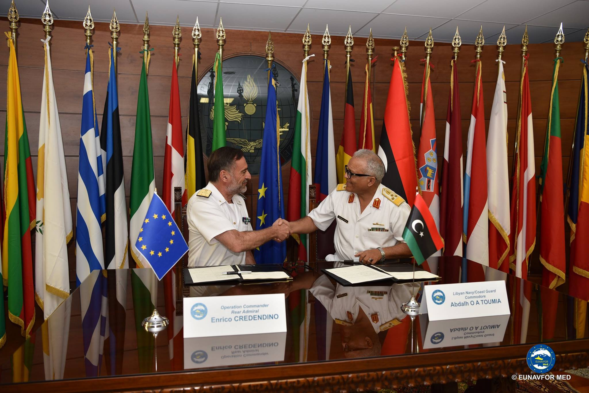 EUNAVFOR MED and Libyan Coast Guard and Navy signed their #Memorandum of Understanding on training activities 2